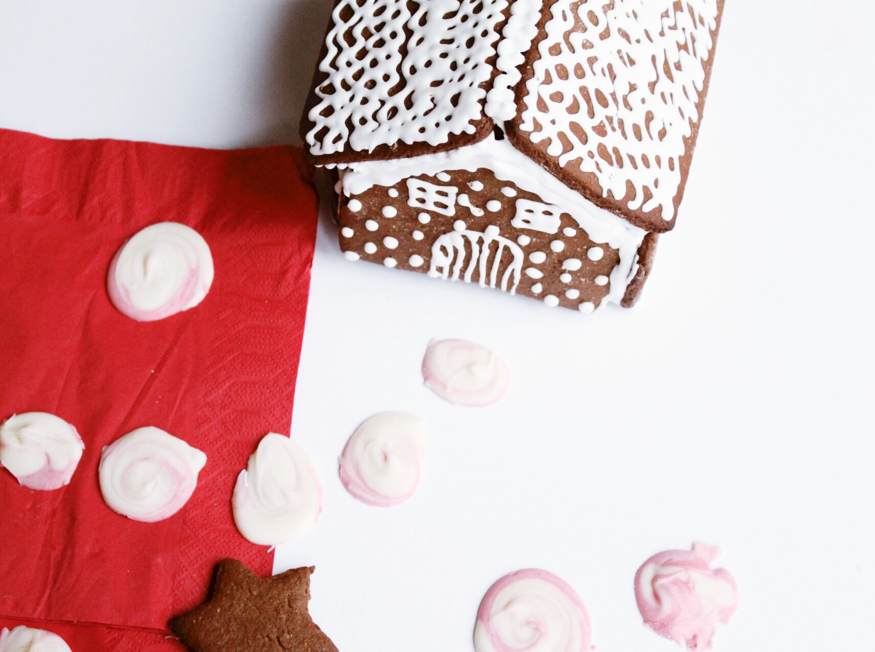 gingerbread and peppermint candies