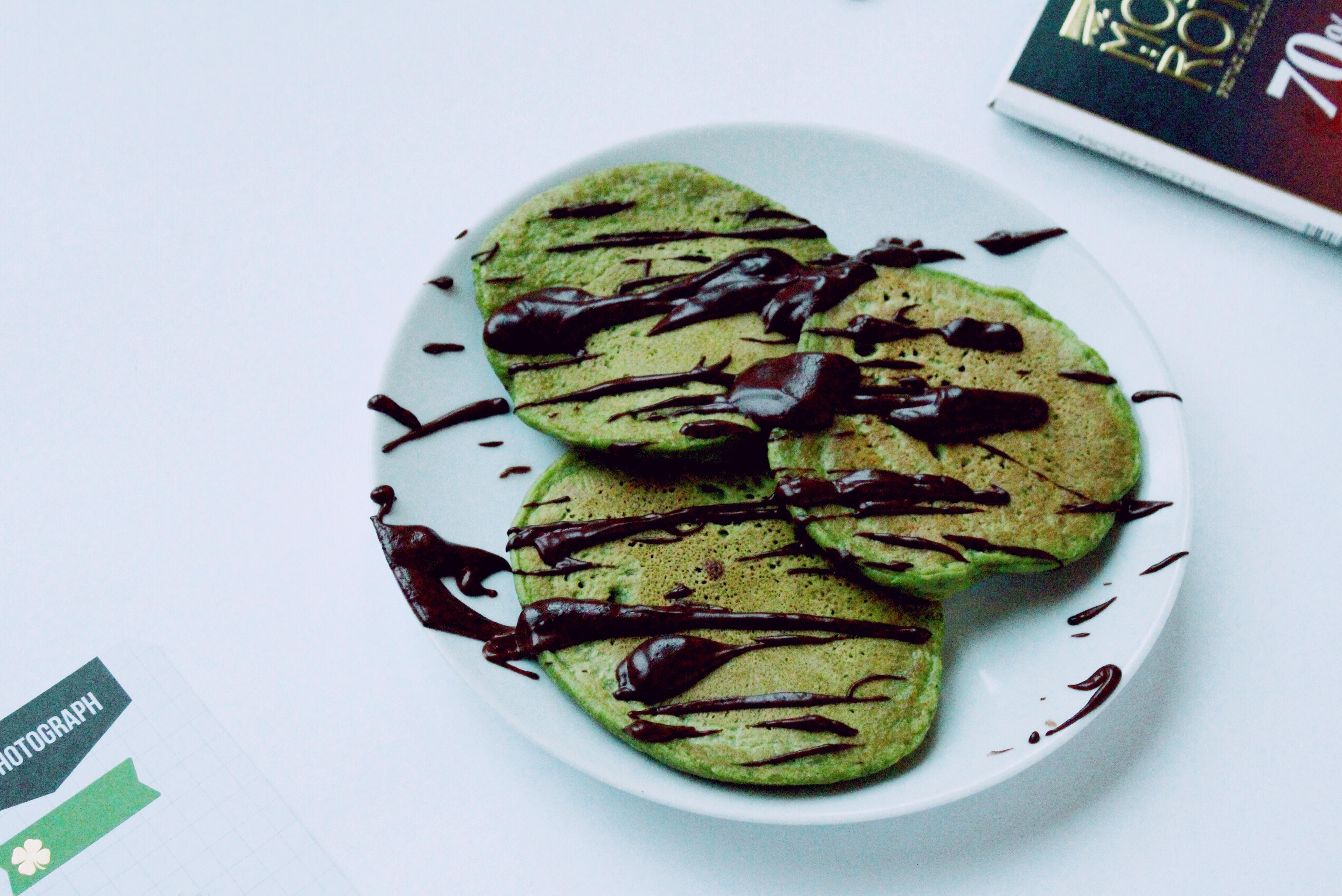 Vegan Shamrock Pancakes