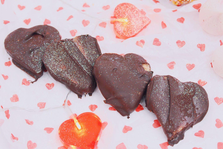 Peanut Butter Hearts - vegan valentine's baking