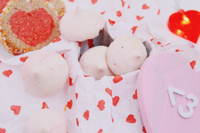 Rhubarb Meringue Kisses - Vegan Valentine's Baking