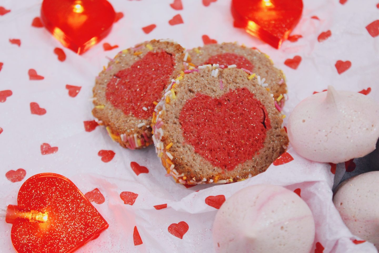 Slice-and-bake cookies - vegan valentine's baking