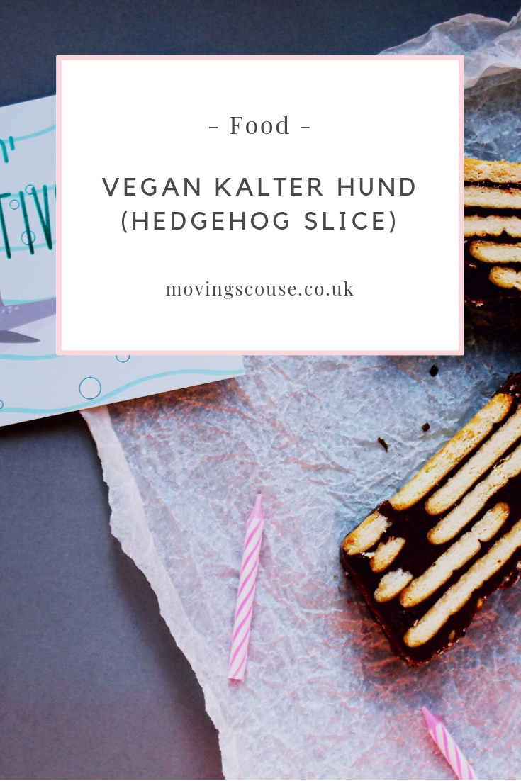 Food | Vegan Kalter Hund (Hedgehog Slice) | movingscouse.co.uk