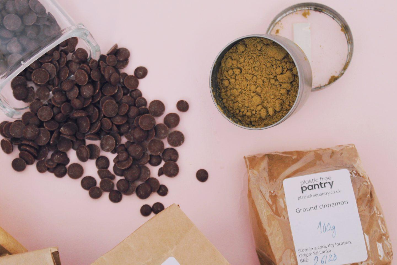 zero-waste pantry staples - sugar, spices, chocolate