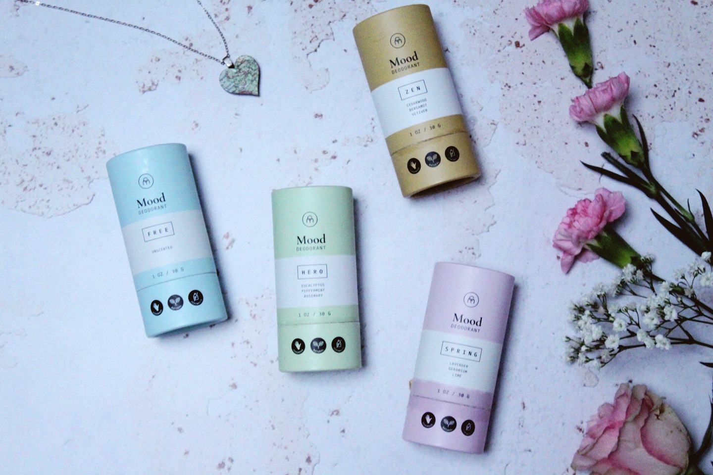 Coconut Matter Deodorants - Spring, Hero, Free, and Zen