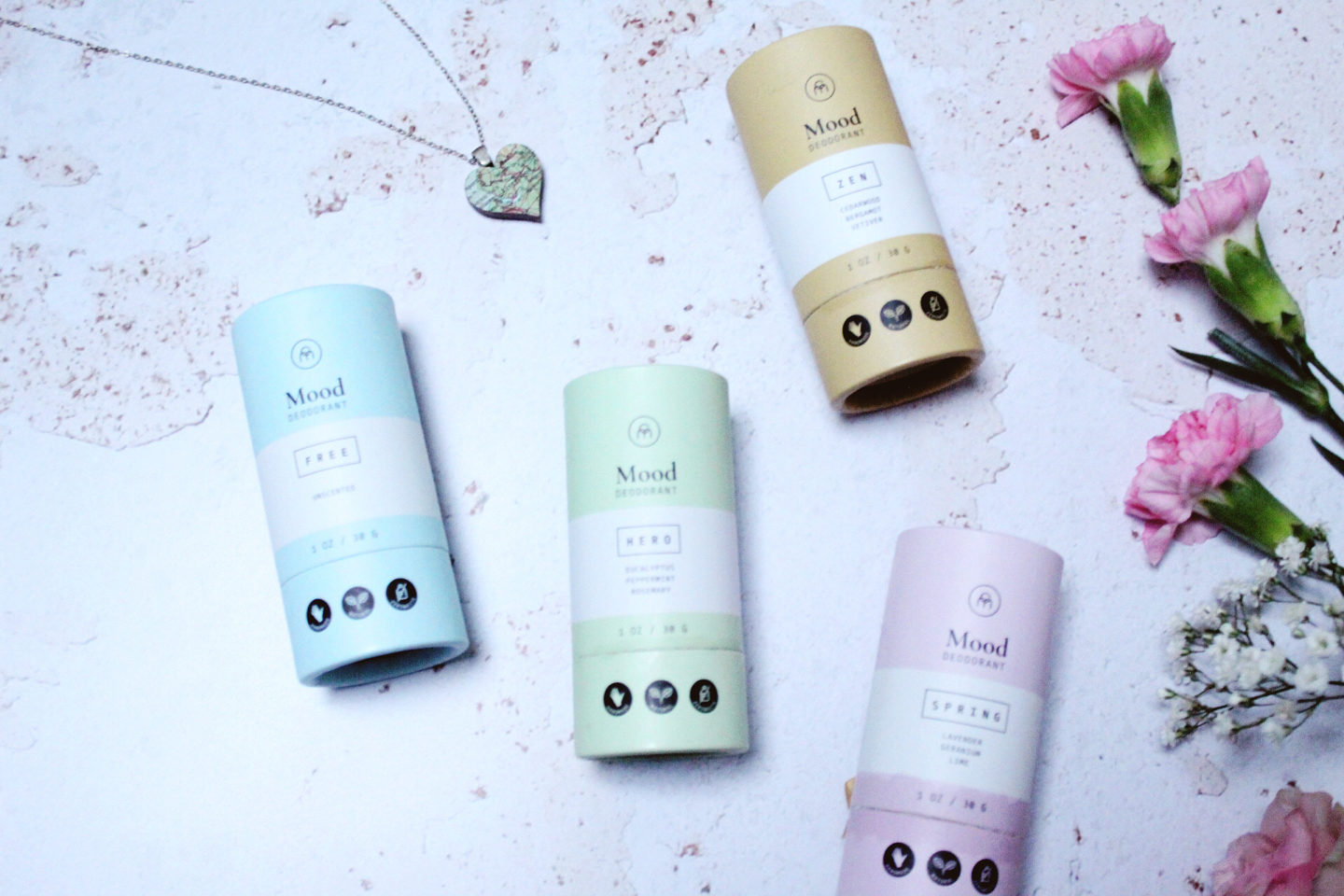 Low-waste deodorants in paper-based packaging