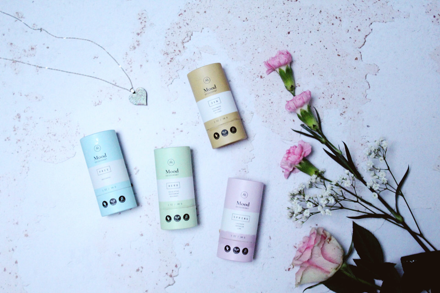 Flatlay of Coconut Matter low-waste deodorants