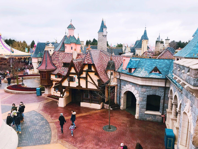 Fantasyland as seen from Sleeping Beauty's Castle